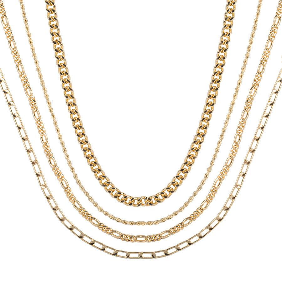 Gold Dripping Necklace Set