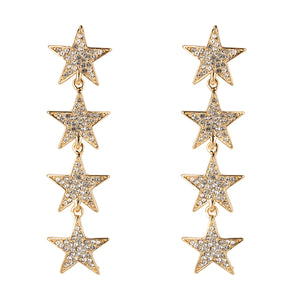 Dropping Star Earrings