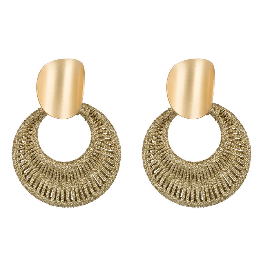 Woven Gold Hoops