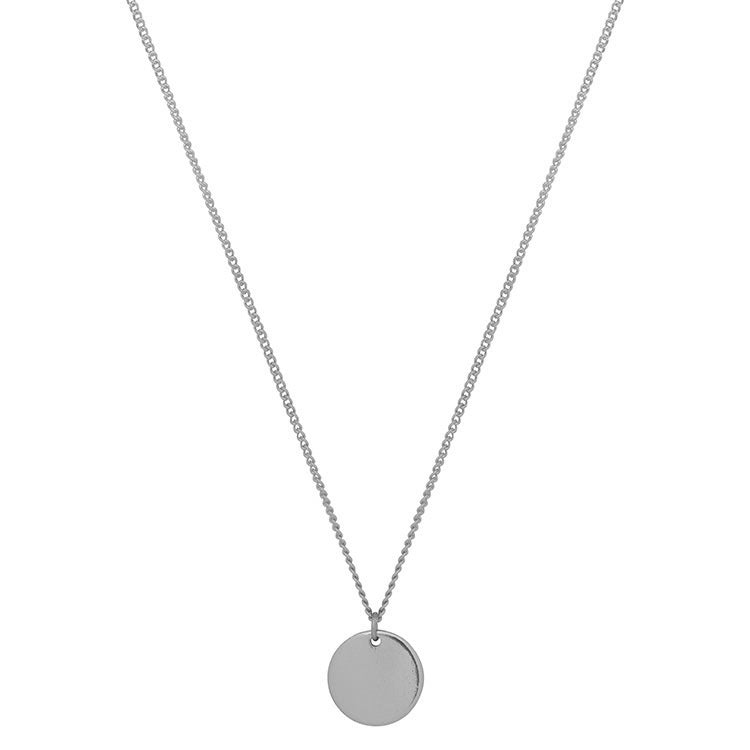 Silver Medallion Necklace