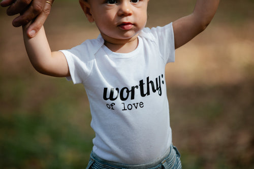 Worthy Of Love White T-Shirt