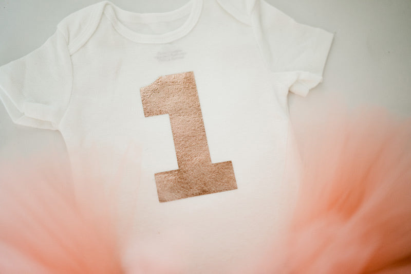 Blush / Copper Tutu and Rose Gold 1 | First Birthday Outfit