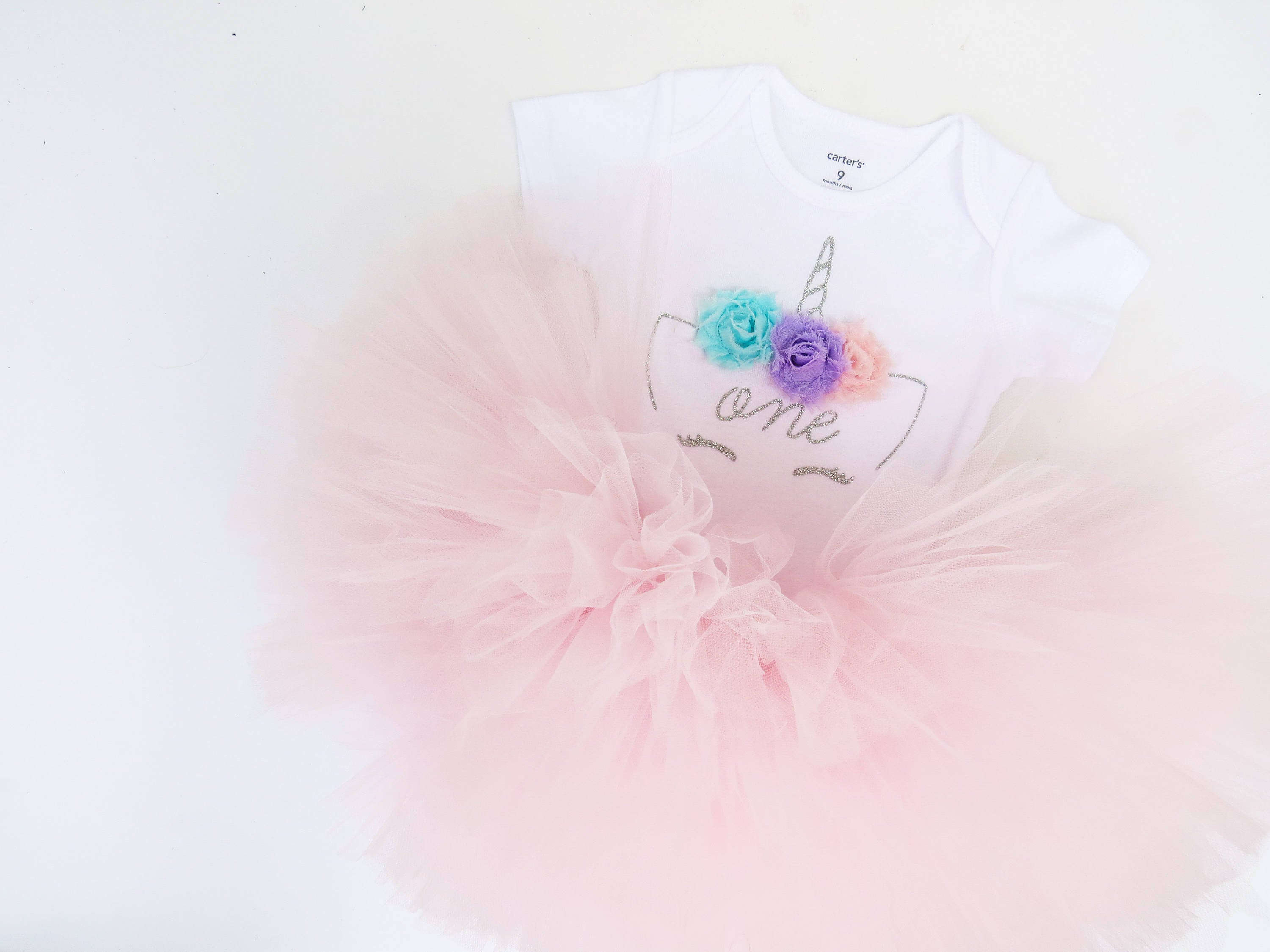 Silver and Pink Unicorn Outfit | First Birthday Outfit