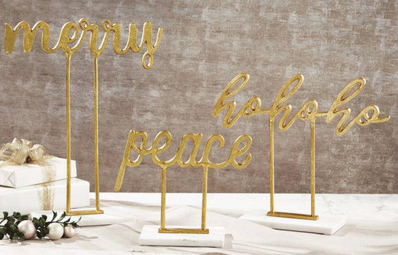 Gold Sentiment Sitters - 3 Styles