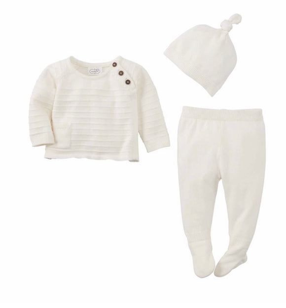 Knit Ivory 3 Piece Set