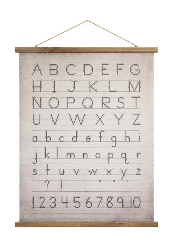 Alphabet Wall Scroll
