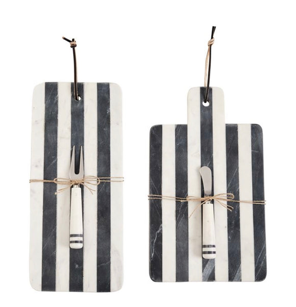 Striped Marble Board Set