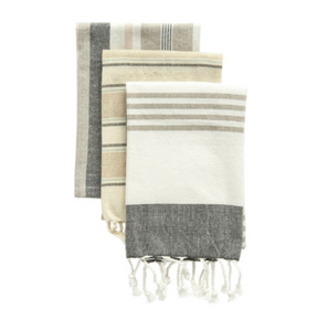 Striped Cotton Tea Towel Set