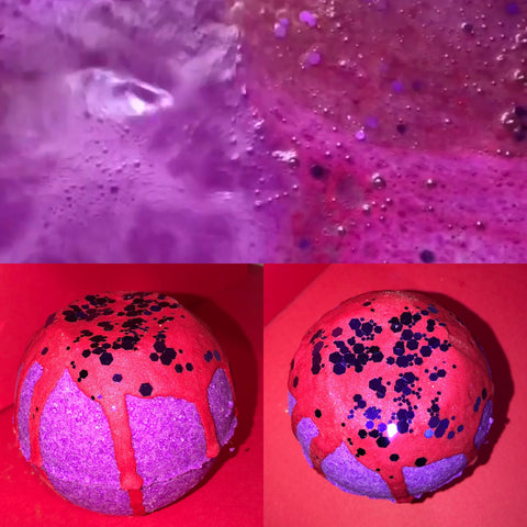 Passion heart bath bomb