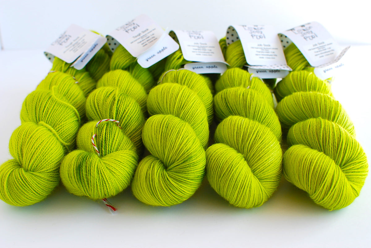 LJP Job Sock: green apple