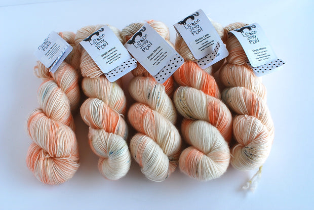 LJP Single Merino : Snow Peach