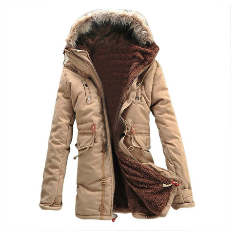 long overcoat thick heavy jacket for winter wear, cold season and high altitude wear for men and women