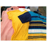 Men's Sorted A-Grade Short Sleeve T-shirts & Polo Shirts in 50kg, 75kg & 100kg Bales