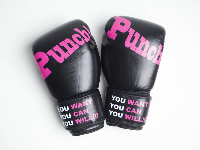 Leather Kickboxing Gloves