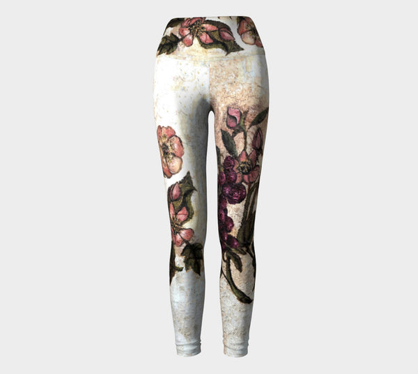 2f55caff4e805 Yoga Leggings, Performance Wear, Printed from Original Oil Painting,