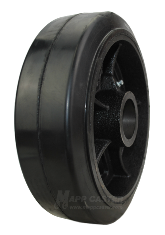 "10"" x 3"" Rubber on Iron Wheel - Part # QRCI10R0"