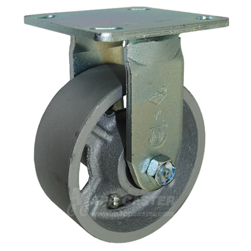 5 Heavy-Duty Rigid Plate Caster 1200 Lb Capacity Polyurethane Wheel