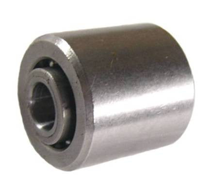 "1-1/8"" OD x 1-1/4"" Steel Rail Roller Wheel / Bearing - 500 Lbs Capacity"