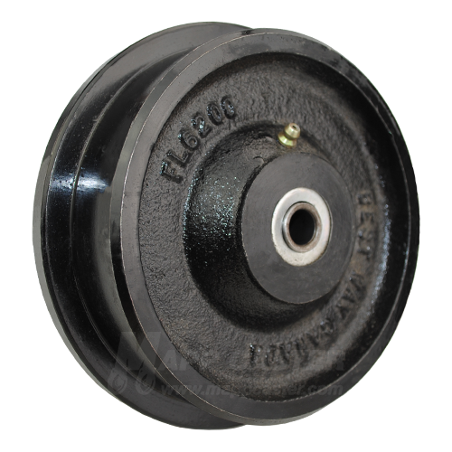 "6"" x 2"" Flanged Ductile Steel Wheel - 2,000 Lbs Capacity"