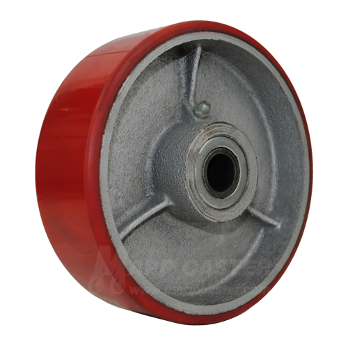 "6"" x 2"" Polyurethane on Iron Concrete Saw Wheel with 1"" Roller Bearings - Part # F043250"