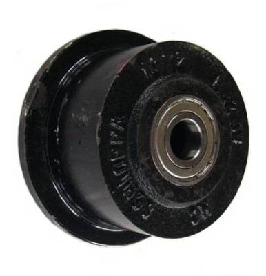 "4"" x 2-1/2"" Flanged Cast Iron Wheel - 1,200 Lbs Capacity"