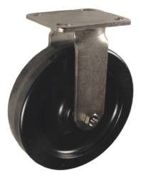 "8"" x 2"" Phenolic Wheel Stainless Steel Rigid Caster - 1,250 Lbs Capacity"