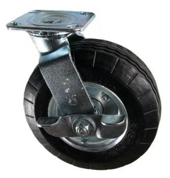"8"" Ever-Roll (Flat Free) Swivel Caster with Brake - 250 Lbs Capacity"