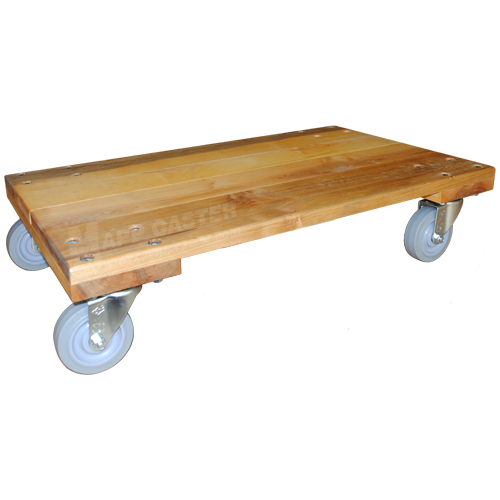 18 X 30 Solid Deck Dolly With 4 Tpr Rubber Wheel Casters 960 Lbs Capacity