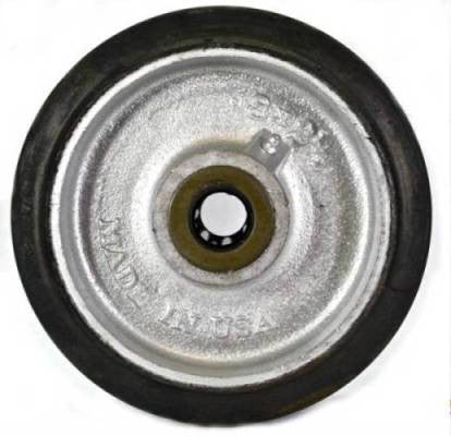 8 x 2-1/2 H90 Rubber on Iron Concrete Saw Wheel - Select Bearing Size