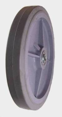 "10"" x 1-1/2"" Thermoplastic Rubber (TPR) Wheel with Ball Bearings - 500 Lbs Capacity"