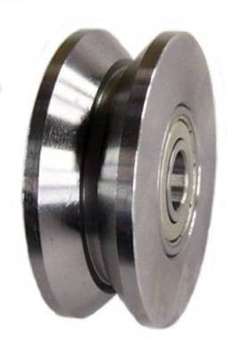 "2"" x 3/4"" (50mm x 18mm) V-Groove Solid Steel Wheel - 260 Lbs Capacity"