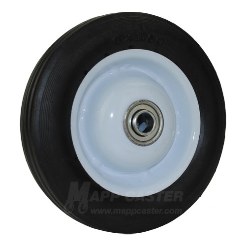 "6"" x 1-1/2"" Flat Free Wheel on Steel Hub - Part # J615R"