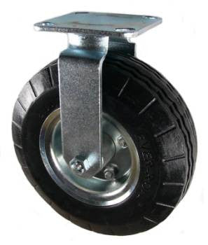 "8"" Ever-Roll (Flat Free) Rigid Caster - 250 Lbs Capacity"