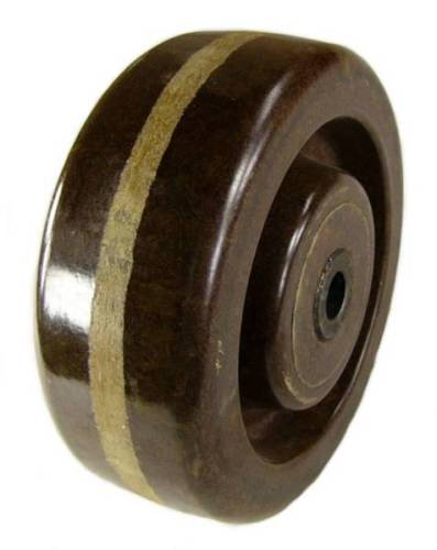 "4"" x 1-1/2"" High Temp Phenolic Wheel (525˚F) - 400 Lbs Capacity"