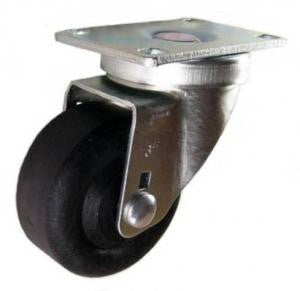 "3"" x 1-3/8"" High Temp Nylon Wheel Swivel Caster - 350 Lbs Capacity"