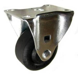 "3"" x 1-3/8"" High Temp Nylon Wheel Rigid Caster - 350 Lbs Capacity"