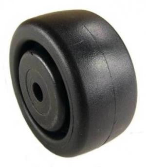 "3"" x 1-1/4"" Polyolefin (Plastic) Wheel with 3/8"" Plain Bore - 300 Lbs Capacity"