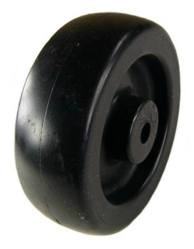 "4"" x 1-1/4"" Polyolefin (Plastic) Wheel with 3/8"" Plain Bore - 350 Lbs Capacity"