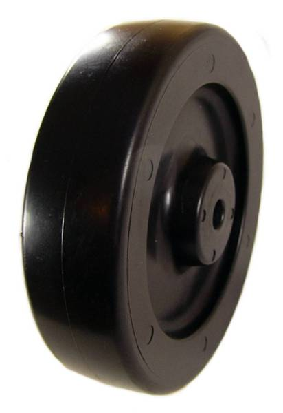 "5"" x 1-1/4"" Polyolefin (Plastic) Wheel with 3/8"" Plain Bore - 375 Lbs Capacity"