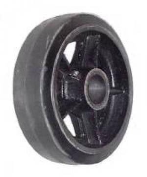 "10"" x 2-1/2"" Rubber on Iron Core Wheel - 1,000 Lbs Capacity"