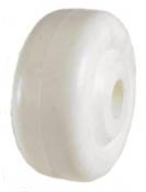 "3"" x 1-3/8"" Polyolefin (Plastic) Wheel with 5/8"" Plain Bore - 325 Lbs Capacity"