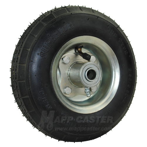 "2.80/2.50-4 Air Tire (Pneumatic) Wheel Assembly with Ball Bearings & 3-3/16"" Centered Hub - 250 Lbs Capacity"