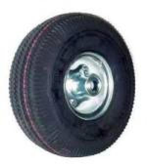 "4.10/3.50-4 Air Tire (Pneumatic) Wheel Assembly with Ball Bearings & 4"" Centered Hub - 350 Lbs Capacity"