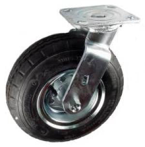 "8"" Pneumatic (Air) 280/250-4 Wheel Swivel Caster - 250 Lbs Capacity"