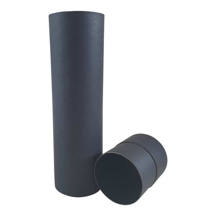 Black Cardboard tube with lid off