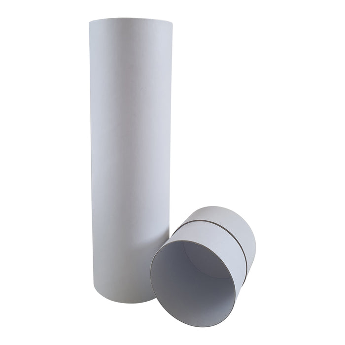 White cardboard tube with lid off