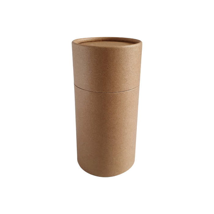 63 x 112 mm brown Kraft multipurpose cardboard tube with slip lid