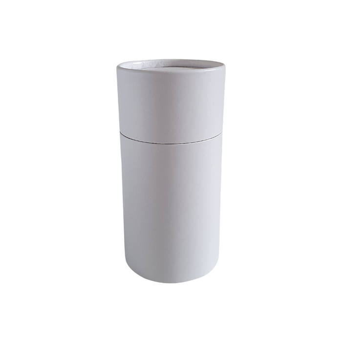 63 x 112 mm white multipurpose cardboard tube with slip lid