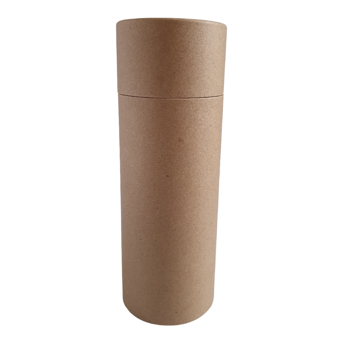63 x 168 mm brown Kraft multipurpose cardboard tube with slip lid