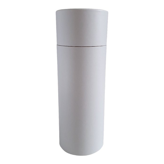63 x 168 mm white multipurpose cardboard tube with slip lid